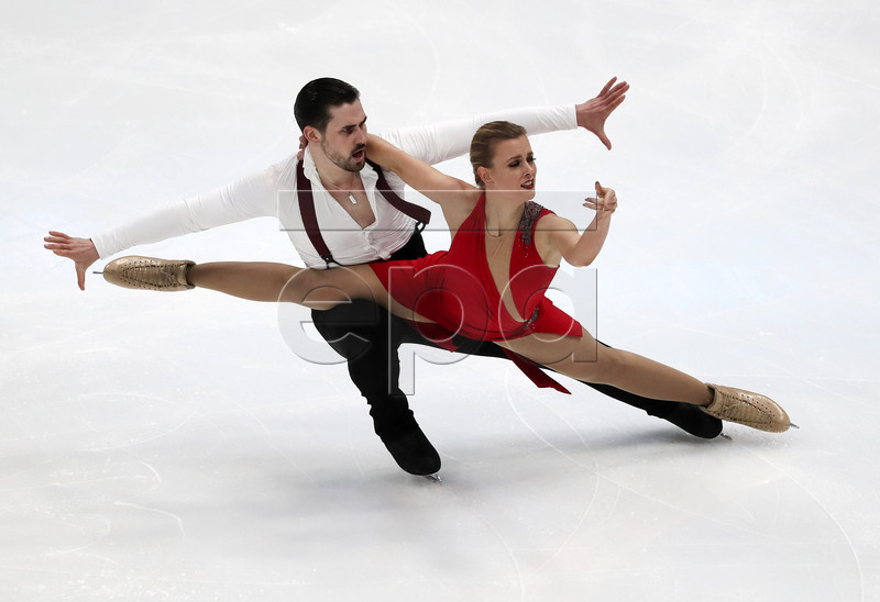 Madison Hubbell (R) and Zachary Donohue (L) of the USA compete in the Ice Dance Rhythm Dance Program during the Four Continents Figure Skating Championships at the Honda Center in Anaheim, California, USA, 08 February 2019.  EPA-EFE/ALEX GALLARDO