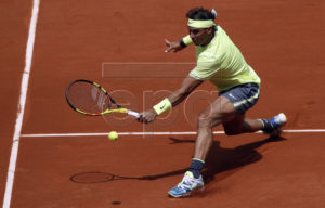 Rafael Nadal of Spain plays Yannick Hanfmann of Germany during their men?s first round match during the French Open tennis tournament at Roland Garros in Paris, France, 27 May 2019. EPA-EFE/YOAN VALAT